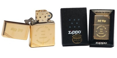 "Self Edge Zippo Vintage 1937 Repro Lighter - ""Perfect Fit"" One of our favorite Zippo designs is their 1937 flip-top windproof lighter. They took the 1935 version and rounded the edges to make it more comfortable in your hand and added the iconic double slashes on two opposite corners. Their design engraved on the front is a nod to the fact that what is known today is a ""coin pocket"" was once known as a ""watch pocket""."