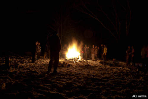 Full moon party in the Notch - March 2012