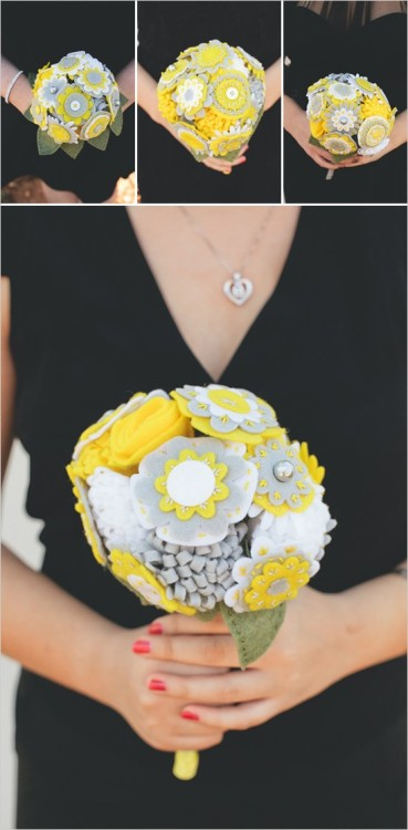 Crafty: felt wedding bouquet!