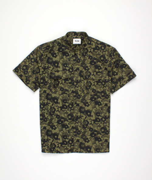 ACNE men, camo short sleeve shirt.  Must have.