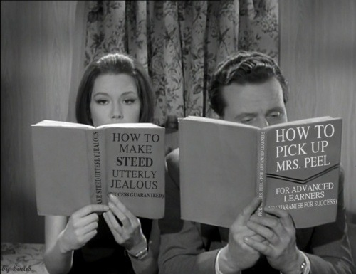 "The other Avengers read. d20crit:  ""How to make Steed utterly jealous"" and ""How to pick up Mrs Peel"""