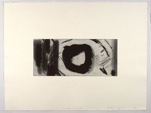"dailyartjournal:  Violeta Capovska, ""Silver Moon with Eureka"", etching"