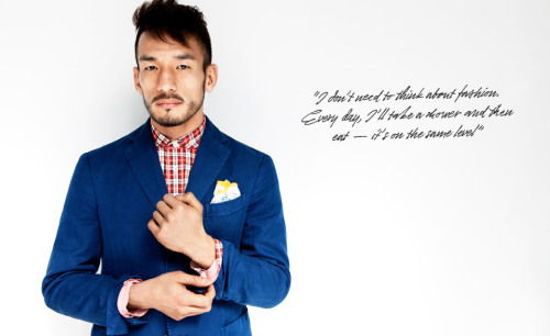 NAKATA Mr. Hidetoshi Nakata featured in Mr. Porter Journal. Retired from the game of soccer at age 29, pursued to travel around the world and explore his own country Japan. He is currently developing a new brand of SAKE. Read more at more at Mr. Porter.