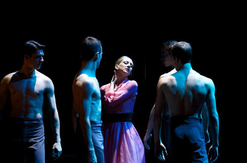 Claire Robertson as Blanche with the Company in A Streetcar Named Desire. Photo: Andrew Ross.