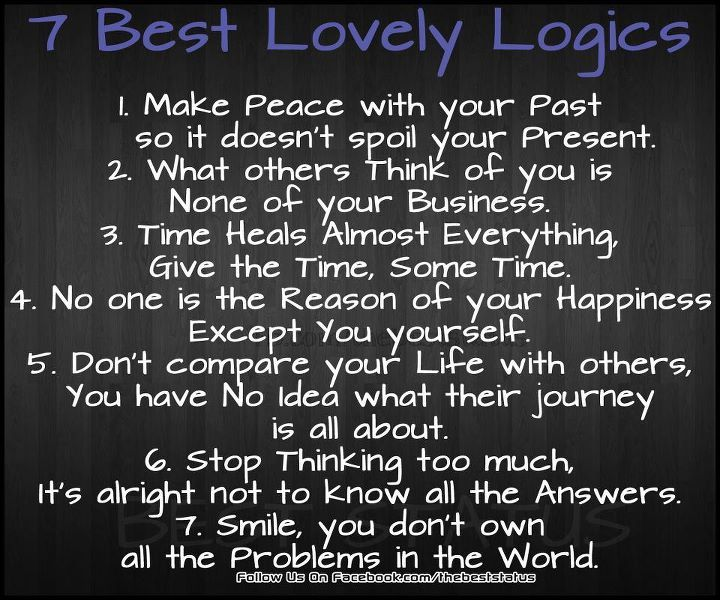 7 Best Lovely Logics!