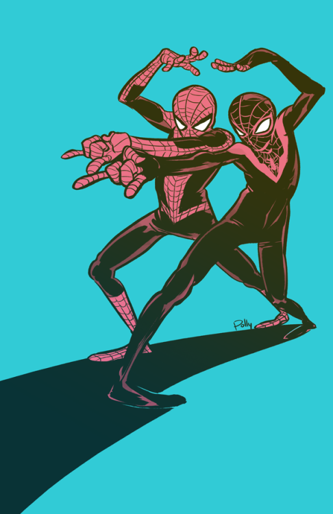 Spider-Man Peter and Miles | by PollyGuo  {via miraclekid}