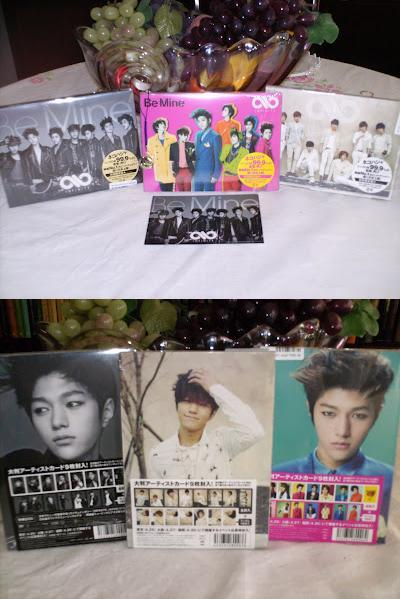 "I finally got them! Infinite's ""Be Mine"" - japanese version. They're all so freakin handsome! *afgnadfkgnaklfgnn* And L is so gorgeous! I just love love love his pic from Pop Art version. I'll put up the cards I got too!"