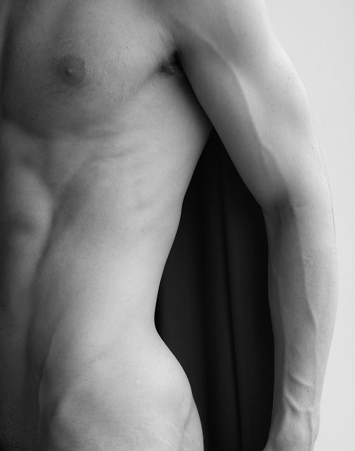 male torso and negative space by brandon thompson nyc on Flickr.