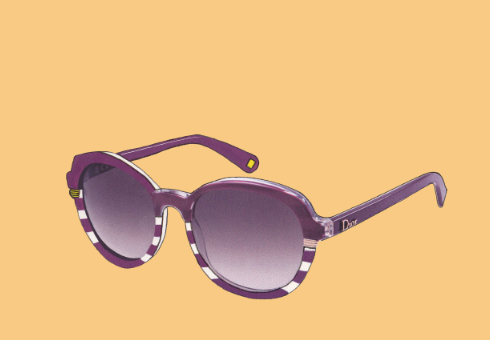 Purple 'Dior Croisette 3' Sunglasses Illustration