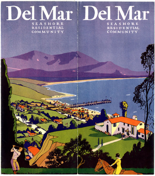 ucsdspecialcollections:  Del Mar : seashore residential community, 1920