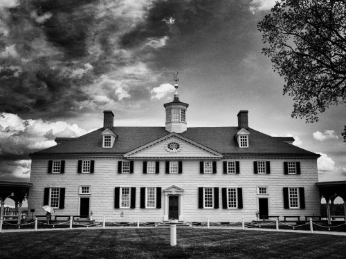 George Washington's mansion on Mount Vernon, Virginia. May 1st, 2012.