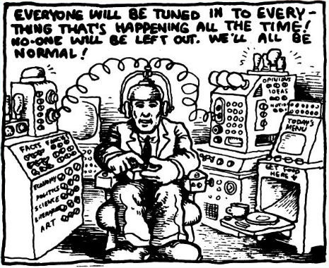 (via Dangerous Minds | R. Crumb predicted Facebook over 40 years ago)