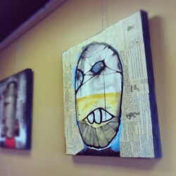 New work at OZO coffee thru end of may. #boulder #mixedmedia #trevorbittinger #ozocoffee #art  (Taken with Instagram at Ozo Coffee)