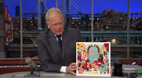 drjuchin:  David Letterman holding up the Father John Misty record that I painted to cover for… that doesn't feel like good grammar…