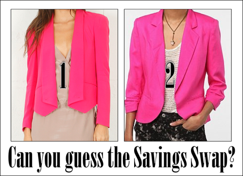 SAVINGS SWAP: HOT PINK BLAZER