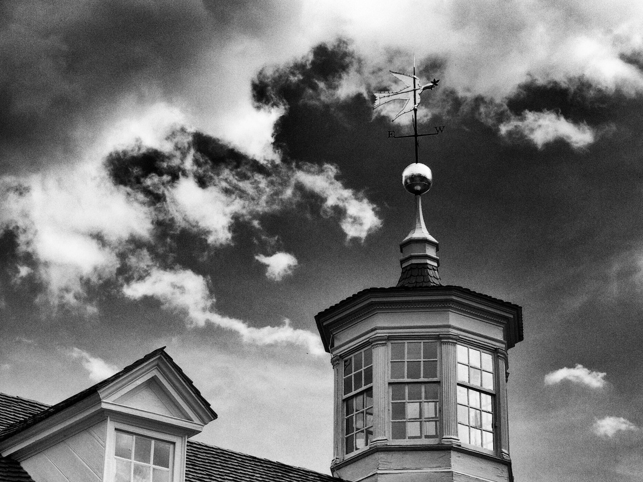 The peace dove weathervane on top of George Washington's mansion on Mount Vernon, VA. May 1st, 2012.