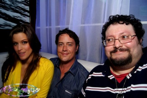 me hanging out with Jeremy London and his gf