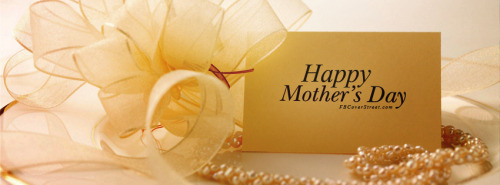 Happy Mothers Day Gold Card & Pearls Facebook Cover