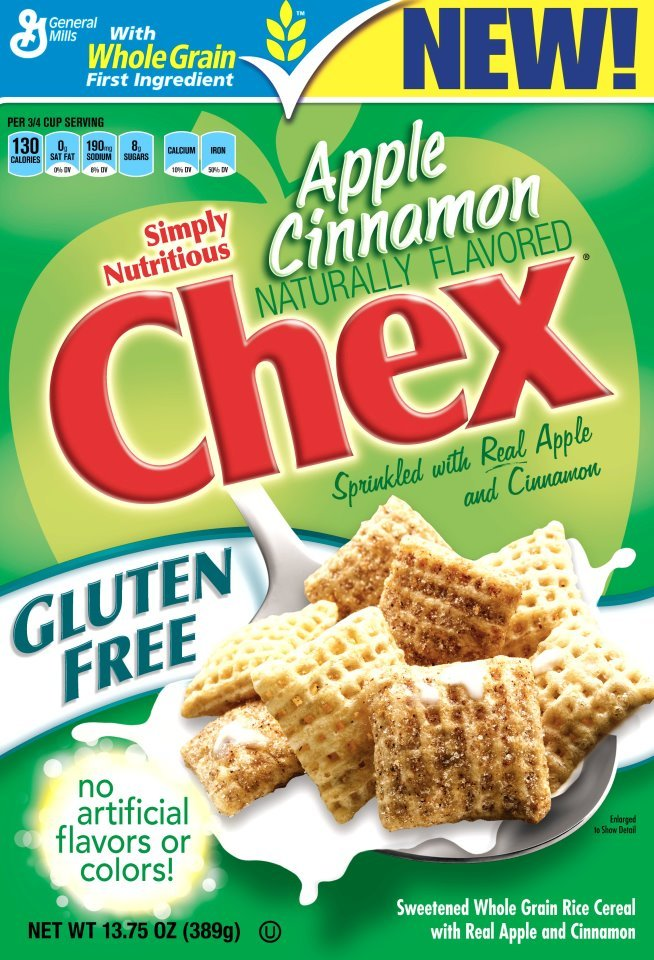 Apple Cinnamon Chex gluten-free of course is coming soon! YESSSSS!