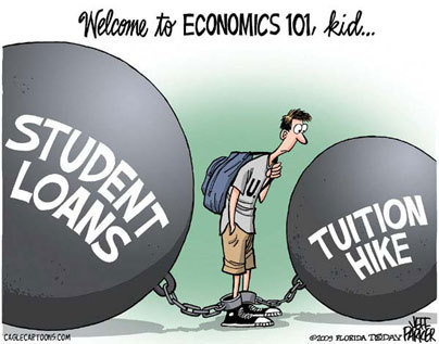 Between ever-increasing tuition rates, and student loans which can take decades to pay off, higher education is becoming more expensive than ever. LIKE & SHARE this if you believe our generation needs to get education costs under control before things get any worse. For more translations, go to www.ourtime.org