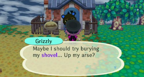 good lord grizzly is into some weird shit
