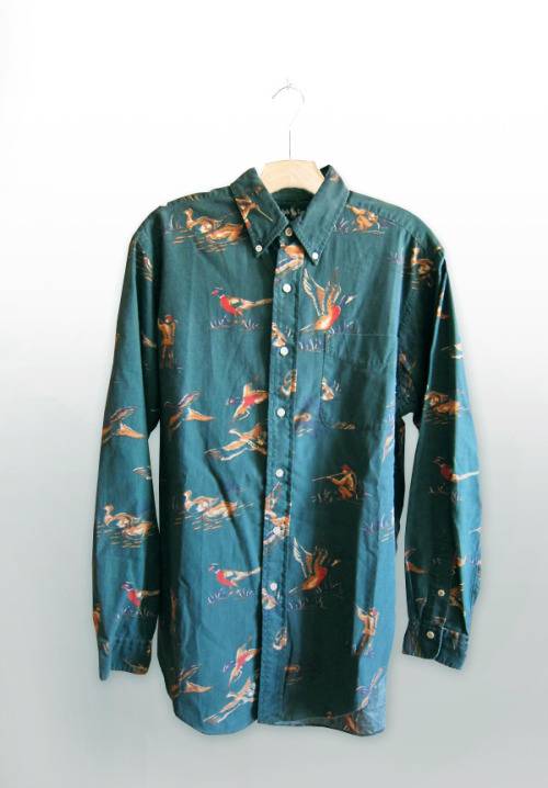 Vintage Ralph Lauren Duck hunter allover print shirt.