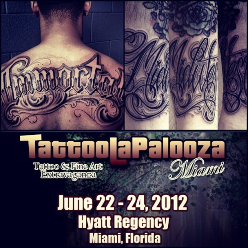 Miami!!! Yours truly will be working tattoolapalooza alongside my brother @dustyneal. Email me at nateclicktattoo@gmail.com to book an appointment. Hope to see you there! #anvilmade #tktutb (Taken with instagram)