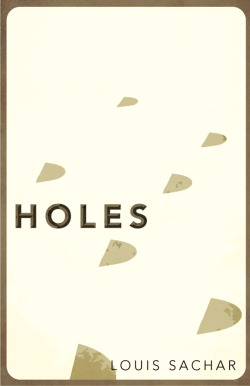 Holes by Louis Sachar: Book Cover Re-design # 9 Straight from 1998, childhood classic. Worked to create a field of holes and represent them as minimally as possible by using just their shadows. Buy the high quality art print over at Society6.