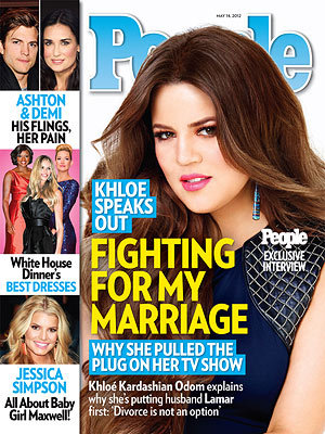 """I like to think divorce is not an option.""  - Khloé Kardashian, who's putting Khloé & Lamar on hold for now because she says ""part of being married is knowing when your husband needs your support,"" to PEOPLE  For more on Khloé's decision, and their plans to start a family, pick up the latest issue of PEOPLE, on newsstands Friday"