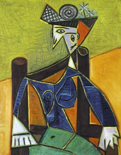 "theatlantic:  How a Rip in This Picasso is Worth $7.5 Million  Femme Assise dans un Fauteuil (Woman Sitting in a Chair), a jaggedy portrait in the typical Picasso style, will hit the auction block tonight at Sotheby's. And in the scrutiny of what's expected to be the second-most-expensive piece of art sold in the next two weeks (asking price: $20 to $30 million, in case you're in the market), we learn how much a two-inch tear in a Picasso can cost. Here's the story: a lawsuit dug up on the painting reveals that in 2009, financer Teddy Forstmann's insurance company sued an art gallery housing the portrait for a rip below the figure's neck due to ""careless, negligent, reckless, and otherwise improper handling of the work,"" according to Vanity Fair's Alexandra Peers. That supposedly reduced the value of the painting by $7.5 million, the amount the insurance company paid out to Forstmann, according to the claim. Sotheby's only slyly mentioned the repair, without fully disclosing the damage: ""There is a two-inch repair below the figure's neck where the canvas has been stitched. … Under UV light, one hairline retouching to address repair, otherwise fine."" Read more at The Atlantic Wire."