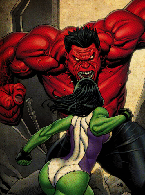 Red Hulk vs. She Hulk
