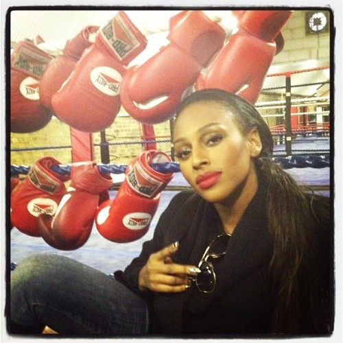 At my shoot today! Was Tryna give Mayweather a run4his money! #WatchThisSpace (Taken with instagram)