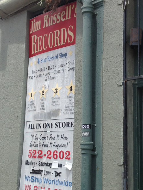 holysoul:  Jim Russell's Records Magazine St, New Orleans