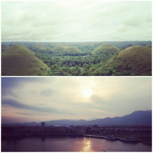 2. Skyline. Top: The Chocolate Hills. Bohol, Philippines. Bottom: Puerto Vallarta, Mexico. #photoadaymay #oldphotos (Taken with instagram)