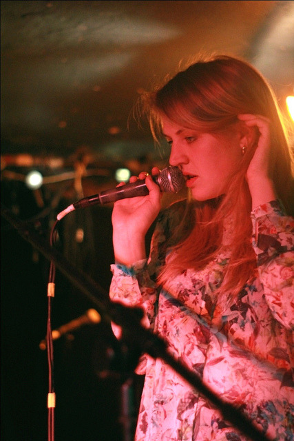 thatjjwyattperson:  Slow Club - May 1st - Exeter Cavern on Flickr. That gurl is beautiful