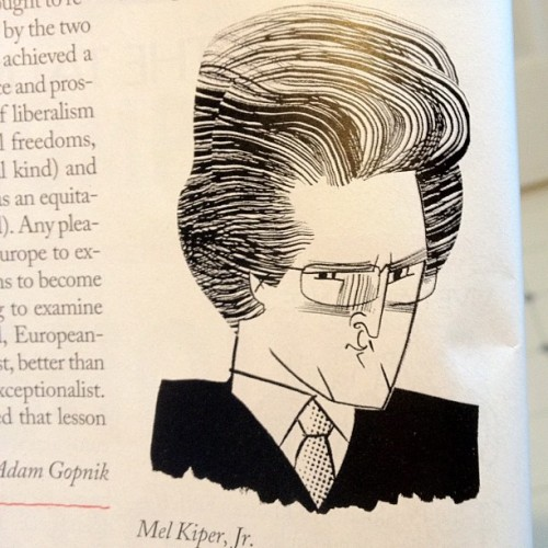 Never thought I'd see a Mel Kiper caricature in the New Yorker  (Taken with instagram)