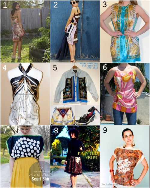 Roundup of Nine DIY Wearable Silk Scarves from inspiration & realisation here.