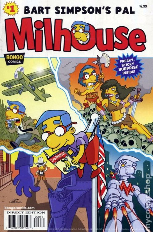 Out today! Bart Simpson's Pal Milhouse, one-shot from Bongo Comics. Gittit gittit!