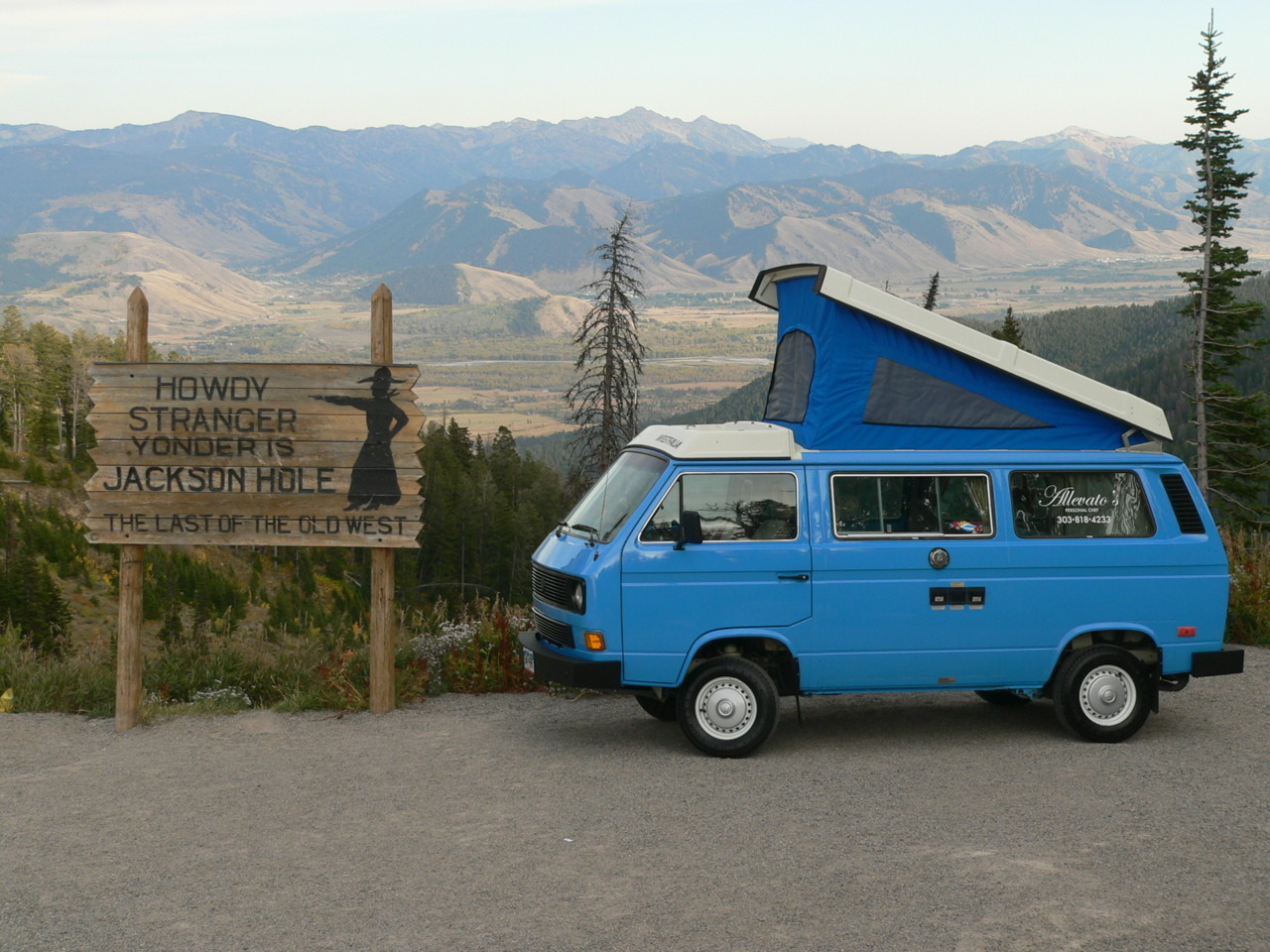 "van-life:  Model: 85 Westy   aka  ""Prairie Schooner"" Location: Jackson, WY Photo: Heading into the hole"