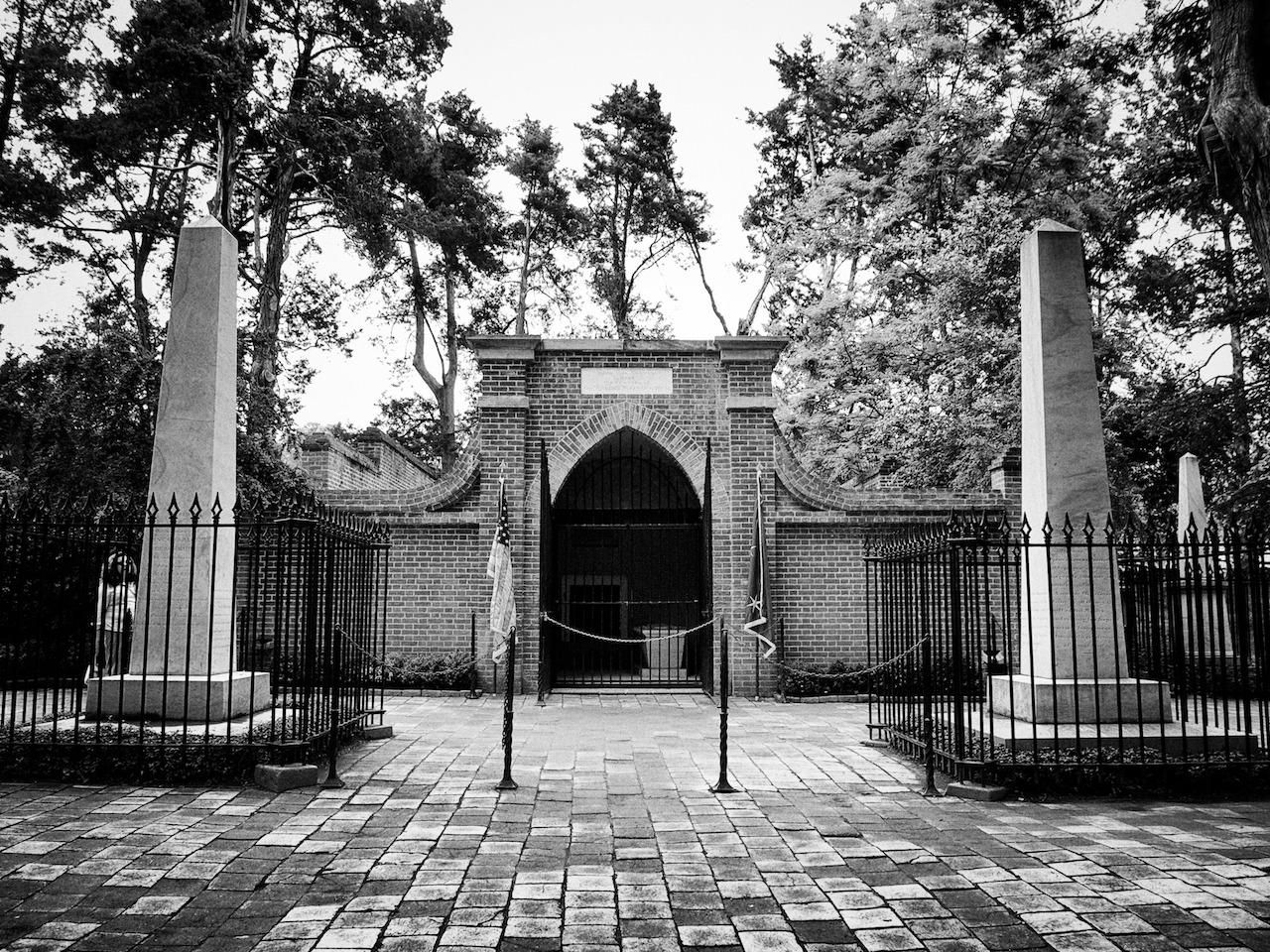 George Washington's tomb at Mount Vernon. May 1st, 2012.