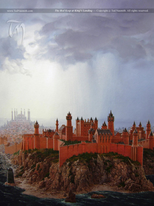 """The Red Keep at King's Landing"", by Ted Nasmith."