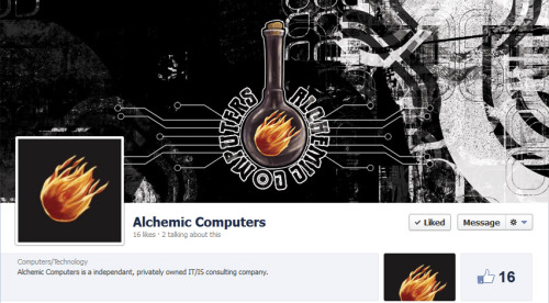 Check out Roger Quignon's Facebook page for his new custom PC, IT/IS company: Alchemic Computers. Featuring custom logo and Facebook graphics work by Coffee:Black Illustration.https://www.facebook.com/AlchemicComputers