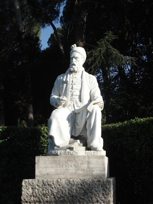 Statue of Ferdowsi in Rome, Italy