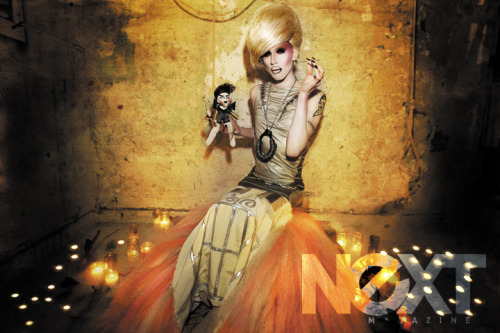 nextmagazineny:  Rupaul's Drag Race Season Four winner Sharon Needles shot exclusively for Next Magazine by Santiago Felipe.