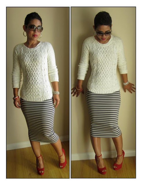 DIY Easy Sew Pencil Skirt. Sewing Level: beginner. Photo of pencil skirt from this post. Written instructions and a video tutorial from mimi g. here.