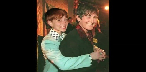 "That's Kai and k.d. lang at Lilith Fair. And this one is Kai and Kiyandra, the genderqueer sex activist she was dating for a really long time. She did the most incredible acoustic version of ""No Woman, No Cry."" I swear to god, just tears, tears, tears flowing down my face.  The Slope ""Conversion Therapy"" (Episode 2.6)"