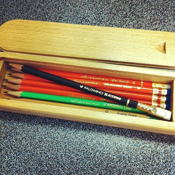 Check out a few of the sweet pencils that Andy Welfle gave me! (Taken with instagram)