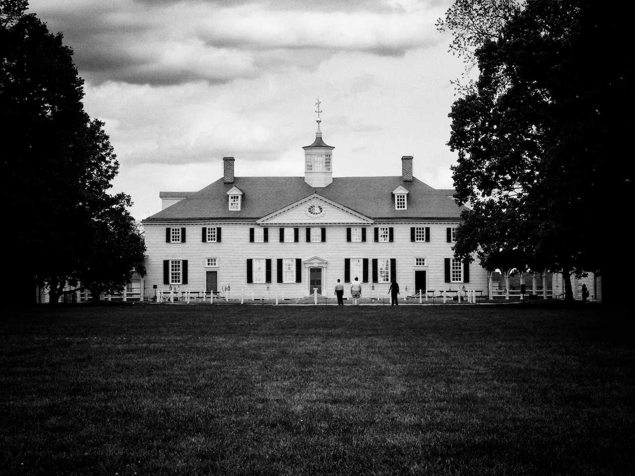 George Washington's mansion at Mount Vernon, Virginia. May 1st, 2012.