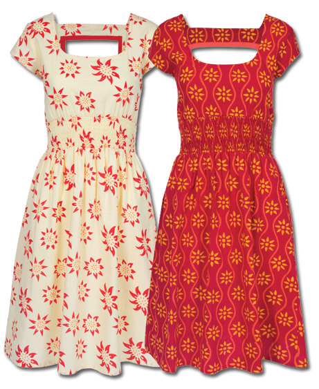 cream or red $56 (via NEW! Love Songs Summer Dress: Soul-Flower Online Store)