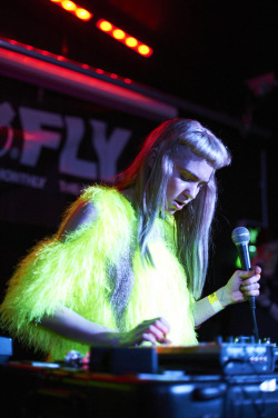 """Vancouver born Electronic Music Artist, Grimes, plays a Fly Presents… performance at the London Garage, on the 30th April 2012, prior to the start of her UK tour. Photos by Marc Sethi"" via:Elżbieta Wierzchoń"